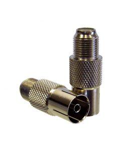 Adaptor: F-type Socket (Female) to PAL Socket (Female)