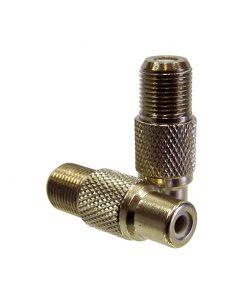Adaptor: F-type Socket (Female) to RCA Socket (Female)