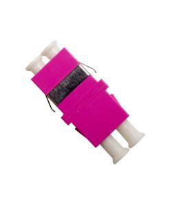 Optical Adaptor - Thru LC Duplex MM4 (Purple)