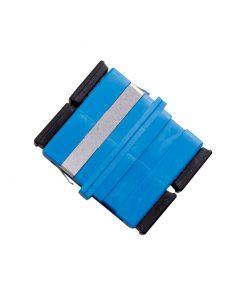 Optical Adaptor - Thru SC Duplex SM (Blue)