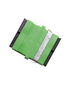 Optical Adaptor - Thru SC/APC Duplex SM (Green)