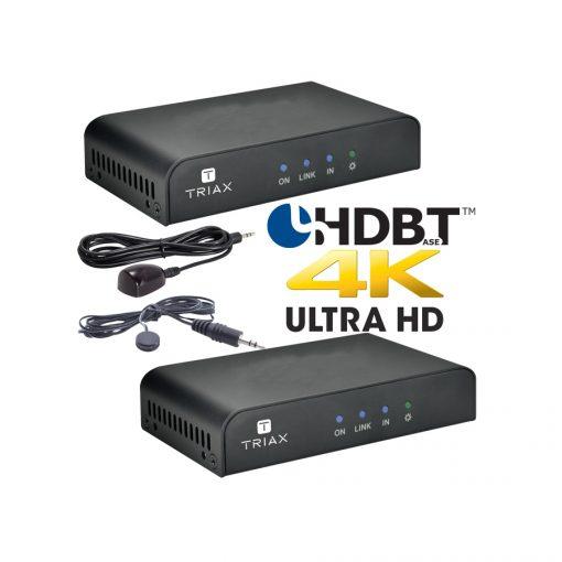 TRIAX HRx/HTx 4K Kit - Point to Point HDMI over CATx / PoC / IR / RS232