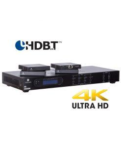 TRIAX HMX441 Kit 4K HDBasT 4x4 Matrix HDMI over CATx /PoC/IR/RS232