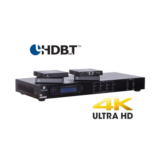 TRIAX HMX441 Kit 4K HDBasT 4x4 Matrix HDMI over CATx /PoC/IR/RS232