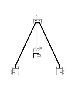 "Strammit Style Roof - TV Antenna Bracket (Large Foot) ""Requires Mast"""