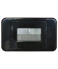 AMDEX Media Style (BLACK) - Bullnose / Flush Entry Wall Plate with brush 2 in 1 - White