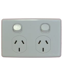 Double GPO - Power Outlet / Point - Clipsal C2000 Series Styled 10A 240VAC