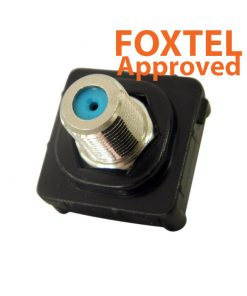 AMDEX - F - F 3GHz Insert (BLACK) (Foxtel Approved) suits AMDEX/Clipsal style plates