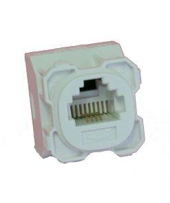 AMDEX: CAT3, 180° 6P4C (RJ11) White Voice, suit CL Series Plates