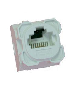 AMDEX: CAT3, 180° 8P4C (RJ11) White Voice, suit CL Series Plates