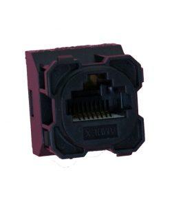AMDEX: CAT5e, 180° 8P8C (RJ45) Black DATA, suit CL Series Plates