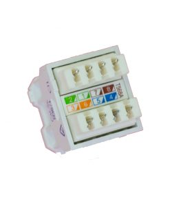 AMDEX: CAT5e, 180° 8P8C (RJ45) White DATA, suit CL Series Plates
