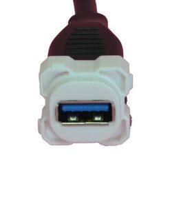 AMDEX Insert: USB - USB 3 suits AMDEX/Clipsal style plates